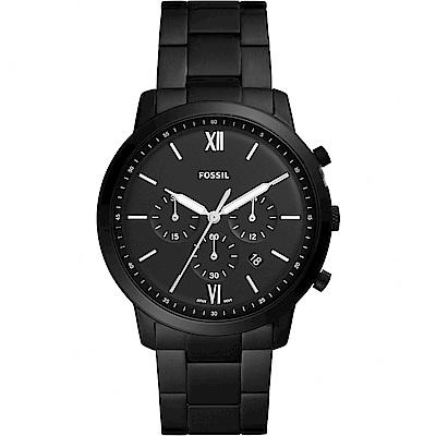 FOSSIL NEUTRA 時尚流行計時手錶(FS5474)-鍍黑/44mm