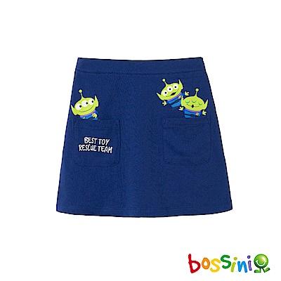 bossini女童-玩具總動員寬版短褲淺綠松