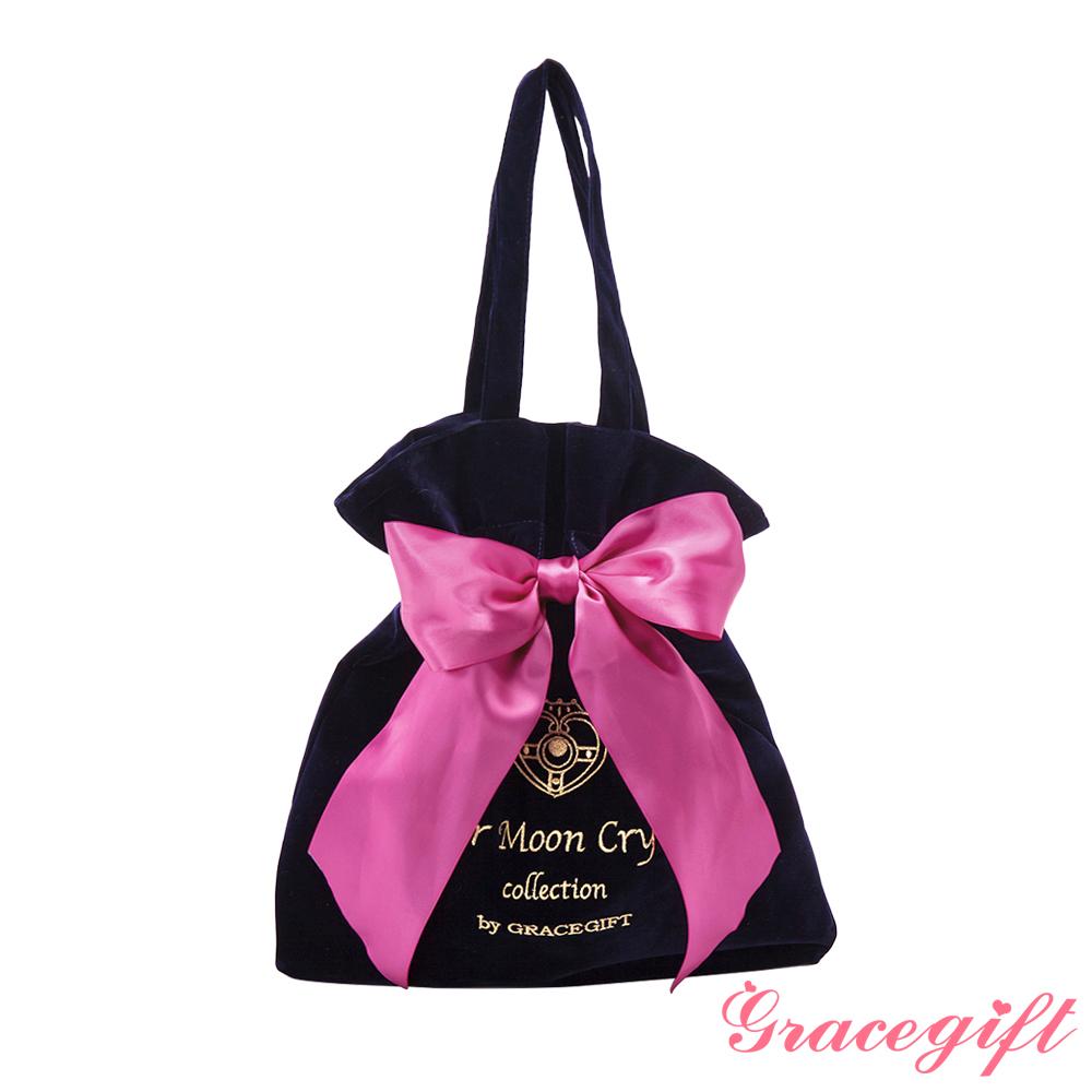 Grace gift-美少女戰士緞帶絲絨托特包