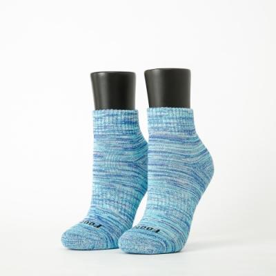 Footer除臭襪-混色潮流氣墊襪-六雙入(暗紅*2+灰黑*2+水藍*2)