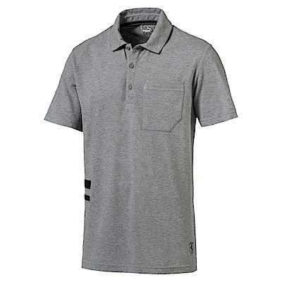 PUMA-男性法拉利經典系列Life短袖POLO衫-中麻花灰-歐規