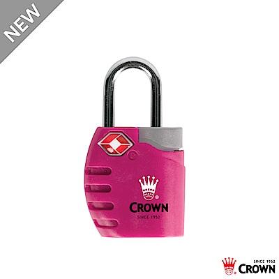 CROWN 皇冠 TSA 鑰匙海關鎖 鎖頭掛鎖 莓果紅