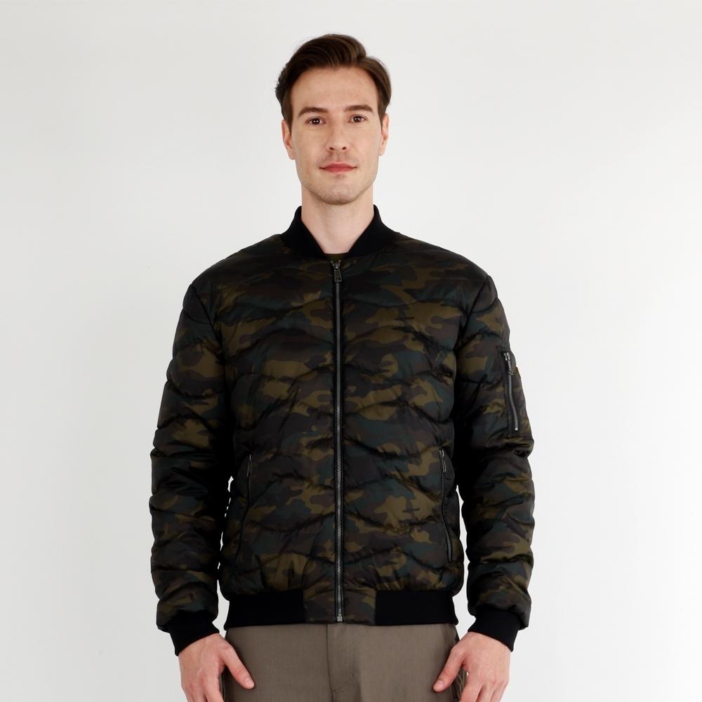 【HAKERS 哈克士】男 防潑水保暖外套(綠迷彩)