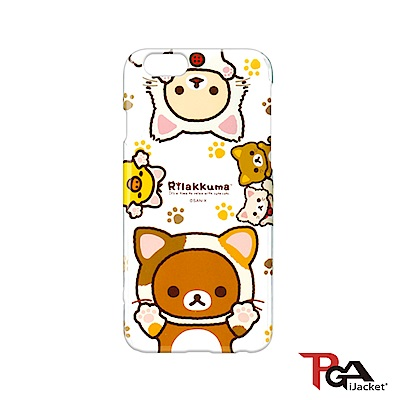【日本 PGA】iPhone6/6S San-X 透明塗鴉 手機硬殼 - 懶懶熊貓貓裝