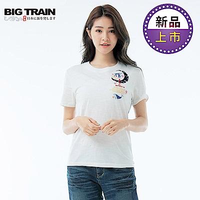 BigTrain藍海鯨王圓領短袖女T-女-白色