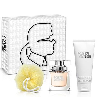 (即期品)Karl Lagerfeld 卡爾同名時尚女性淡香精禮盒