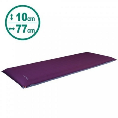 100mountain 198 x 77 x 厚10cm 豪華加寬充氣睡墊 紫色