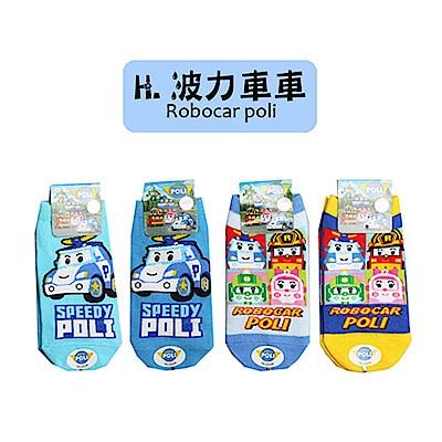 (任選)台灣製造卡通直版襪1雙(波力車車系列)