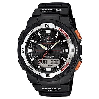CASIO 卡西歐戶外運動全新指針數位雙顯錶款(SGW-500H-1B)-黑/46.8mm