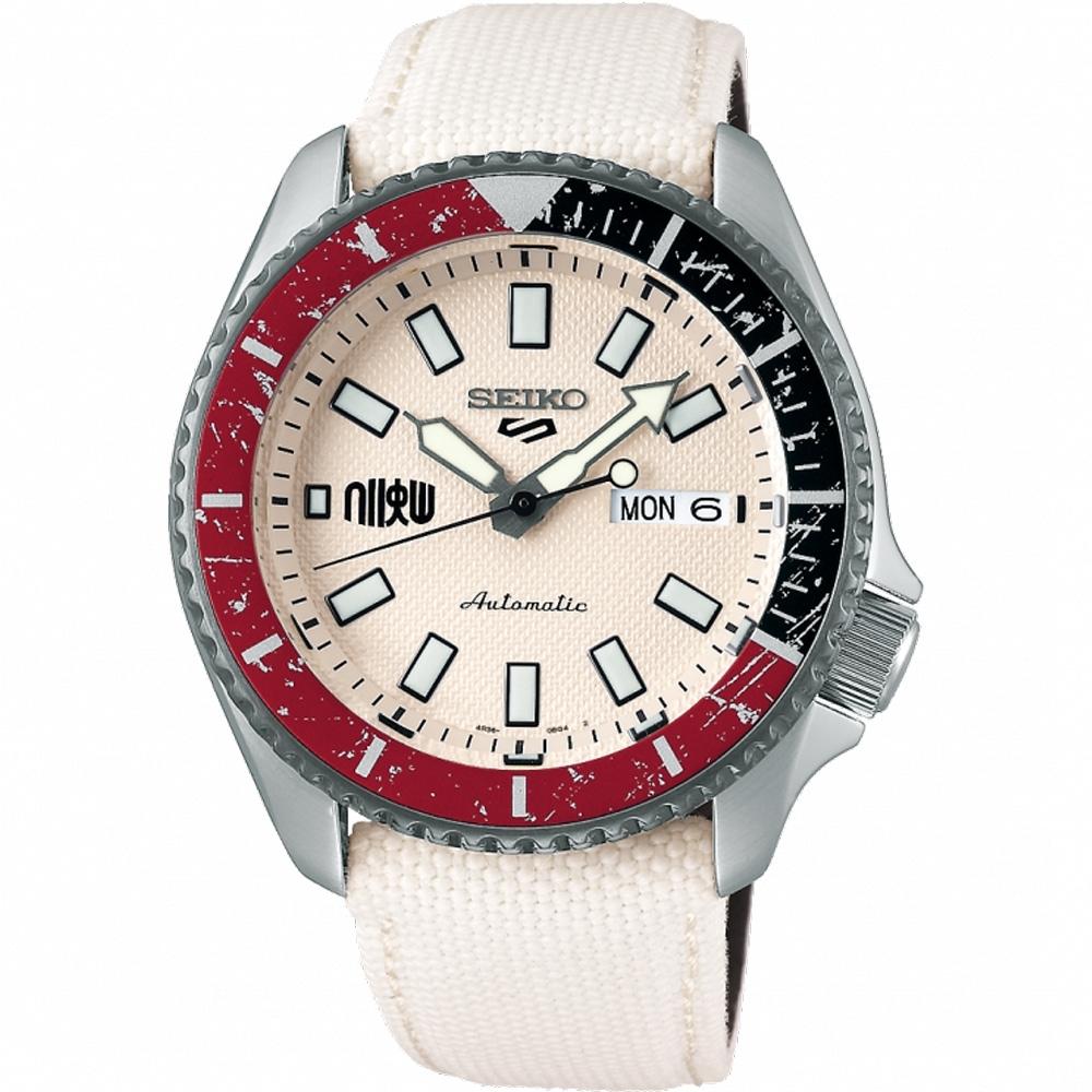 SEIKO 精工 5 Sports x 快打旋風 聯名限量機械錶-隆-42.5mm