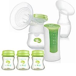nac nac 輕巧型電動吸乳器含母乳儲存瓶優惠組 (單邊)