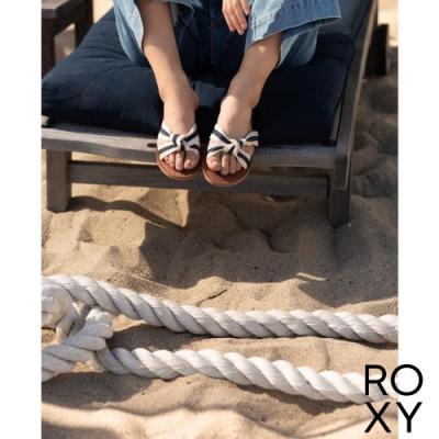 【ROXY】KNOTICAL 拖鞋 米色