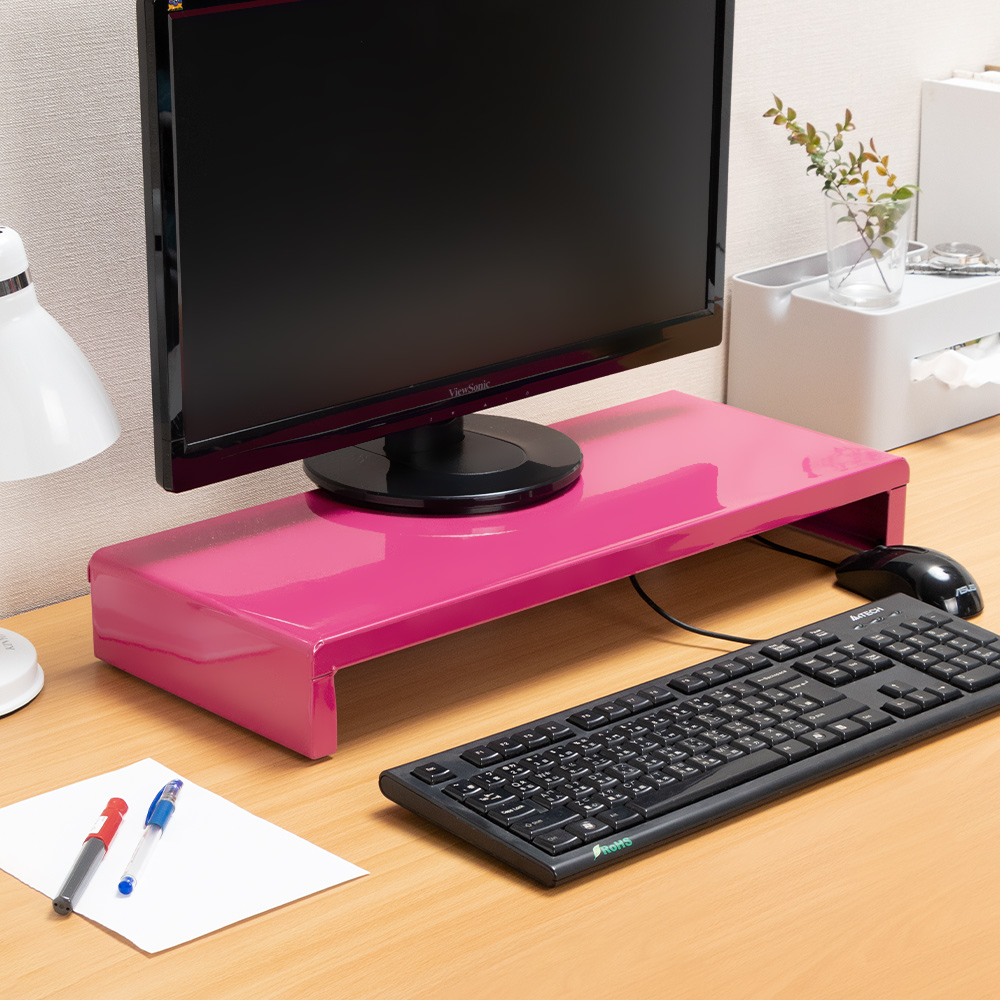 Amos-馬卡龍高載重鐵板多功能置物架/桌上螢幕架 product image 1