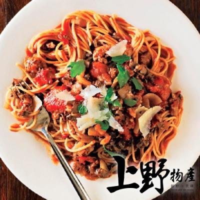 上野物產-凡爾賽鮮蔬野菇雞肉義大利麵 x24包(麵體+醬料包 300g土10%/包)