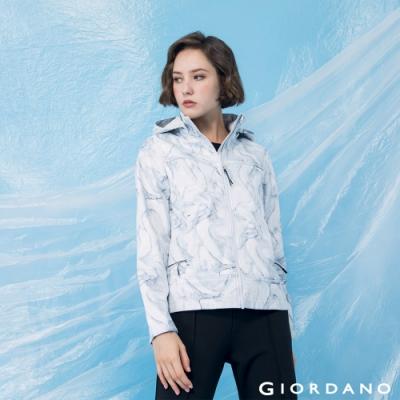 GIORDANO  女裝高機能可拆式連帽外套 - 19 白/灰