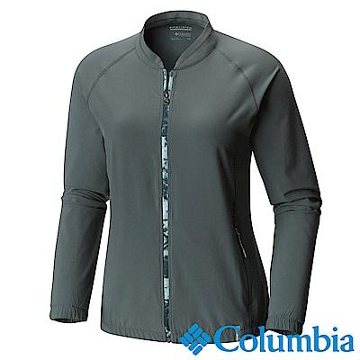 Columbia哥倫比 女款 -快排防曬短夾克-墨綠色-UAK19440