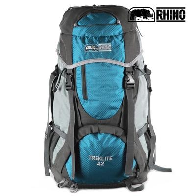 犀牛RHINO TrekLite 42公升超輕透氣網架背包-藍綠