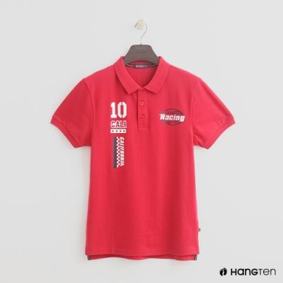 Hang Ten - 男裝 - 街頭logo造型POLO衫 - 紅