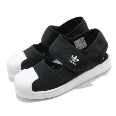 adidas 涼鞋 Superstar 360 Sandal 童鞋 愛迪達 三葉草 魔鬼氈 貝殼頭 穿搭 黑 白 FV7586