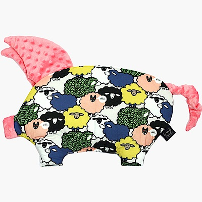 La Millou 豆豆小豬枕嬰兒枕-朵朵綿羊糖(夢幻珊瑚粉)