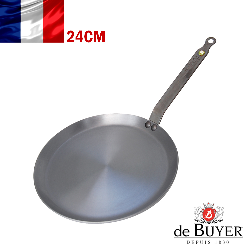 法國de Buyer畢耶 原礦蜂蠟系列-法式可麗餅鍋24cm