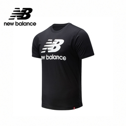 [New Balance]NB短袖上衣_男性_黑色_AMT01575BK