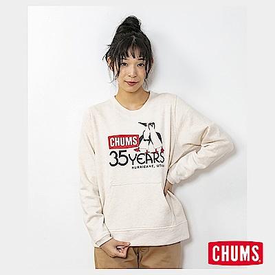 CHUMS 日本 女 35周年紀念大學T Boobies 米