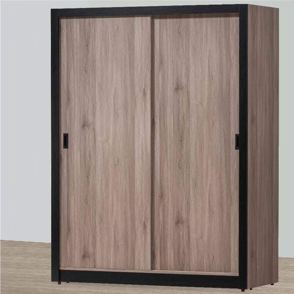 綠活居 寶娜 現代5.1尺推門衣櫃/收納櫃(三吊衣桿+單抽屜+穿衣鏡面)-152x61x196.5cm免組