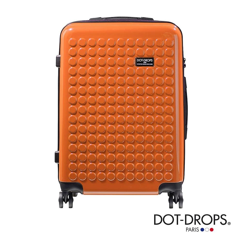 DOT-DROPS 24 吋 Chapter 2 輕量客製點點硬殼行李箱 - 珊瑚橘