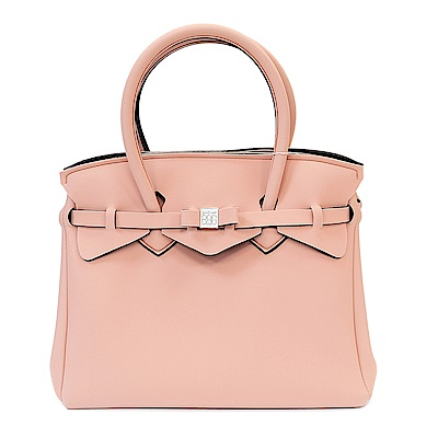 SAVE MY BAG 義大利品牌 MISS系列 淡粉色超輕量手提托特包