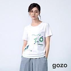 gozo 馬戲團系列配色隱藏口袋棉T(二色)
