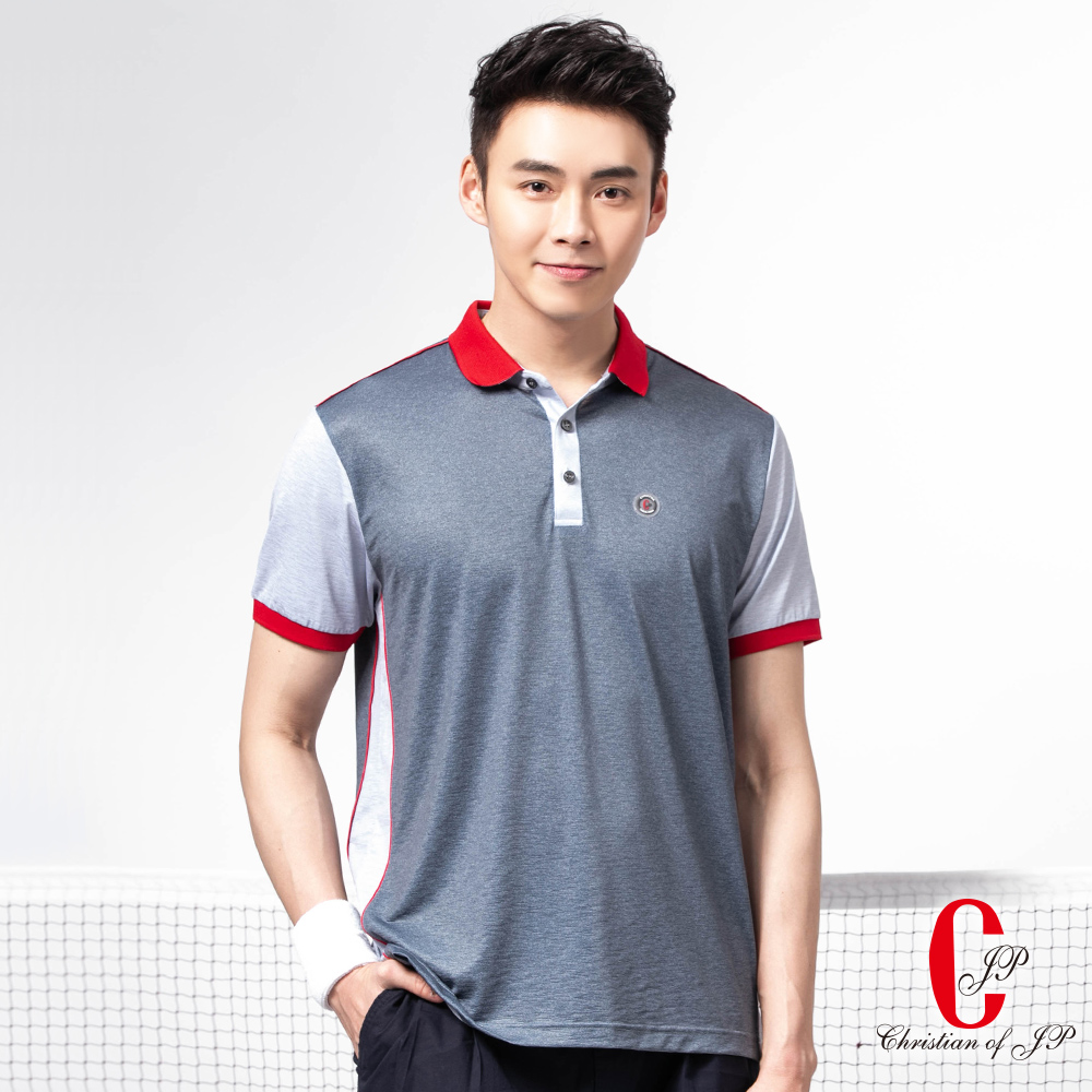 Christian 時尚機能涼感吸排POLO衫_灰色(PS816-85) @ Y!購物