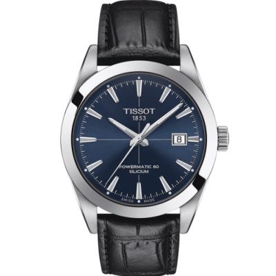 TISSOT天梭 GENTLEMAN 紳士密令機械錶(T1274071604101)-40mm