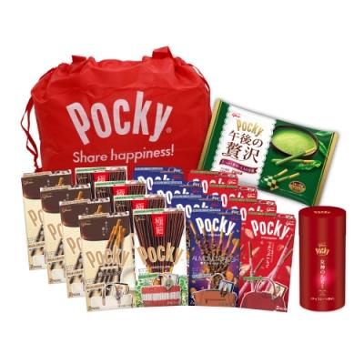 雙11獨家限定 Glico格力高 豪華Pocky組18入(送限量Pocky購物袋)