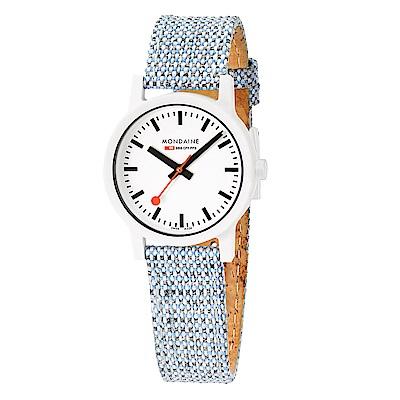 MONDAINE 瑞士國鐵 essence系列腕錶-32mm/天空藍
