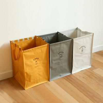 Dailylike 3入防水回收分類袋(方形)-01 自由飛鳥