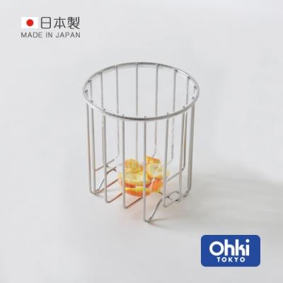 日本大木金屬 Outline 日製究極鏤線18-8不鏽鋼廚餘瀝水筒 (瀝水籃/置物籃/收納筒)