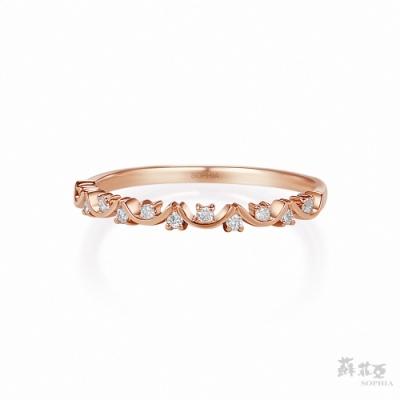 SOPHIA 蘇菲亞珠寶 - 克萊爾 18K玫瑰金 鑽石戒指