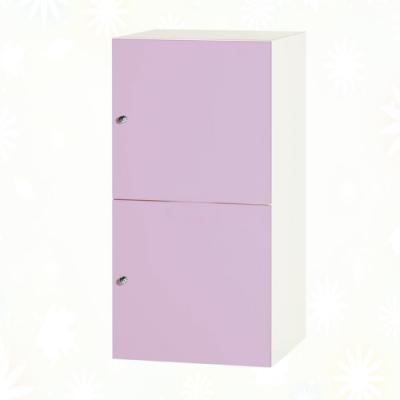 文創集 歷克 環保1.3尺南亞塑鋼雙開門置物櫃/收納櫃-40.4x41.5x80.8cm免組
