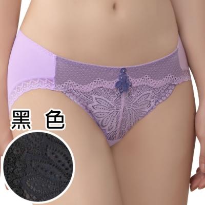 思薇爾 撩波系列M-XXL蕾絲低腰三角內褲(黑色)