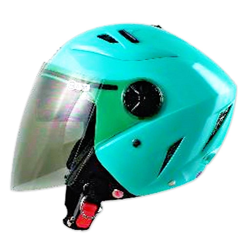 GP-5 時尚安全帽 繽紛 風洞導流設計│抗UV鏡片│半罩安全帽│全可拆│內藏墨鏡 (蒂芬妮綠)