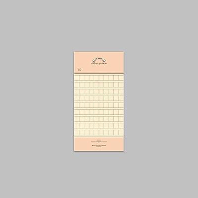 ByNACOO 復古便條紙-14 稿紙格紋
