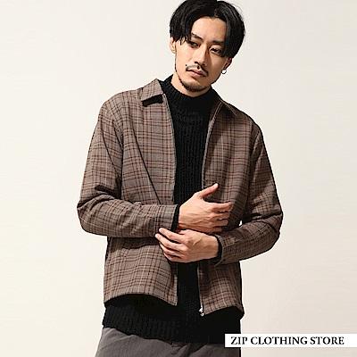 格紋拉鍊布勞森外套2色ZIP日本男裝
