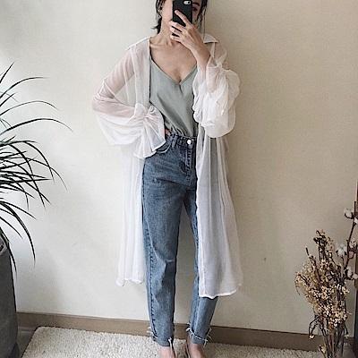 獨家手作/浪漫花瓣袖罩衫-3色-TMH