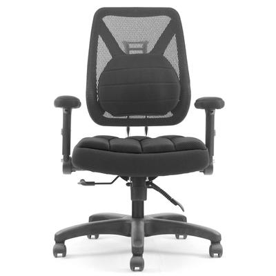 DR. AIR 新款升降椅背人體工學氣墊辦公網椅-黑