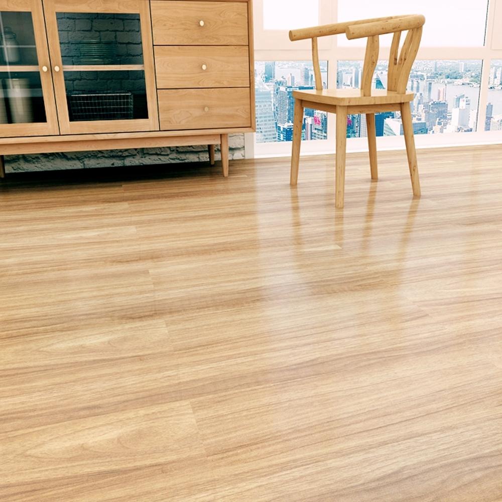 澄境 台灣製耐磨耐焰自黏式PVC仿木紋地板貼(36片)-DIY