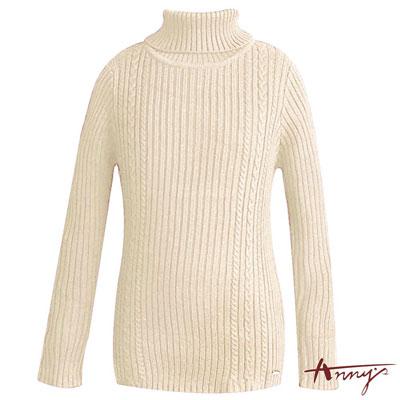 Anny超質量混羊毛彈性套頭毛衣*5640米白