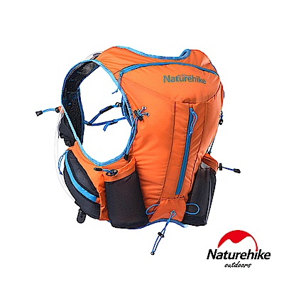 Naturehike 12L輕量化背心式越野跑步後背包 水袋包 橘色