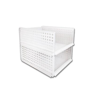 【Incare】DIY多功能雙層可拆滑軌收納箱(小號2入)