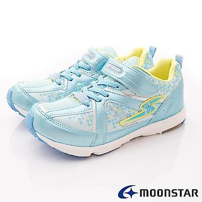 日本月星頂級競速童鞋 輕量運動鞋款 EI079淺藍(中大童段)